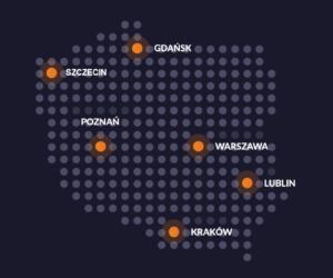 DiP Polska - mapka oddziałów