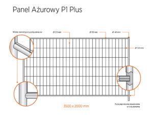 Ogrodzenie tymczasowe azurowe p1