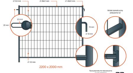 ogrodzenie tymczasowe p8 plus ogniowy haczyk : uszko dip polska