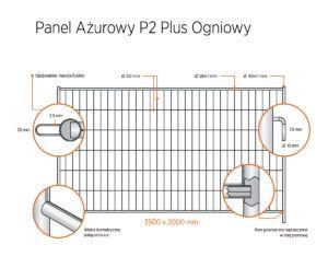 ogrodzenie tymczasowe panel azurowy p2 plus ogniowy