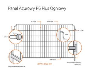 panel azurowy p6 plus ogniowy